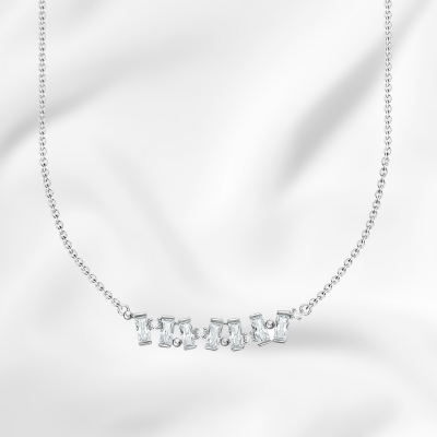 baguette necklace sterling silver fashion jeweler support local ottawa