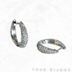 Lab Grown Diamond Hoop Earrings in White Gold Small Business Ottawa Canada