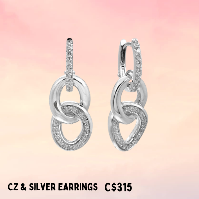 high silver jewelry elegant and beautiful earrings for sale mother's day