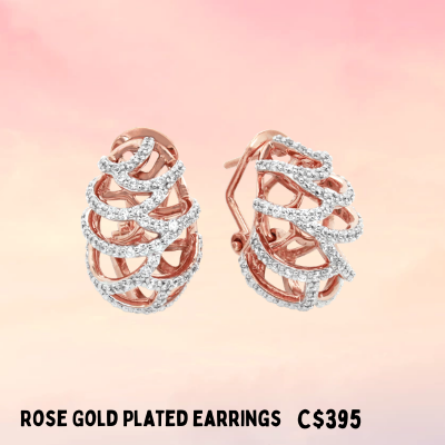 rose gold vermeil earrings well made silver jewellery for sale Ottawa
