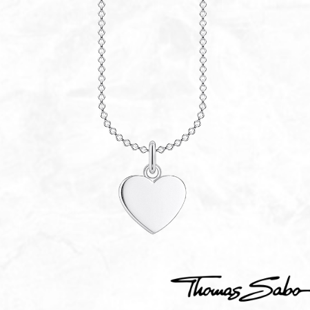 Thomas Sabo Sterling Silver Long Heart Pendant Necklace Engravable Jewelry Graduation Gift Ideas 2021