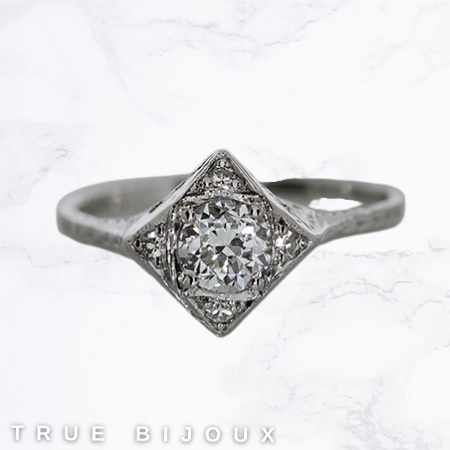 vintage engagement ring vintage-style wedding rings jeweller in ottawa small business Canada