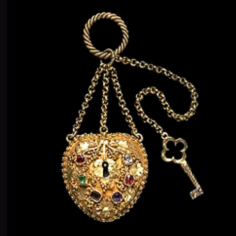 Victorian 'REGARD' Locket ca.1840, Image via The Victoria and Albert Museum