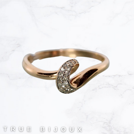 delicate rose gold and diamond ring pre-owned thrifting for sale ottawa business