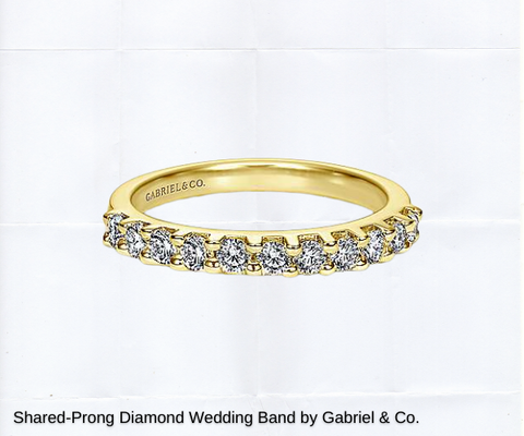 yellow gold shared prong diamond ring for sale wedding bands ottawa