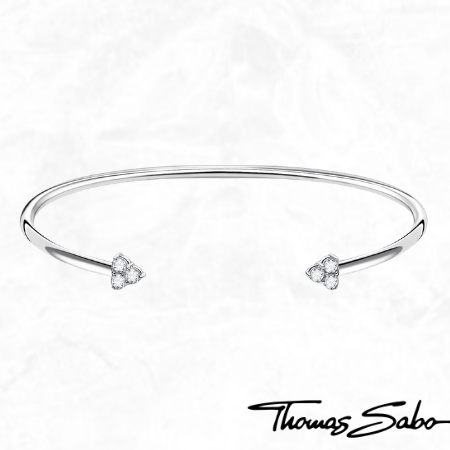 Thomas Sabo Sterling Silver Trinity CZ Bangle Bracelet for Sale Canadian Jeweler and Goldsmith Gift Ideas Free Shipping