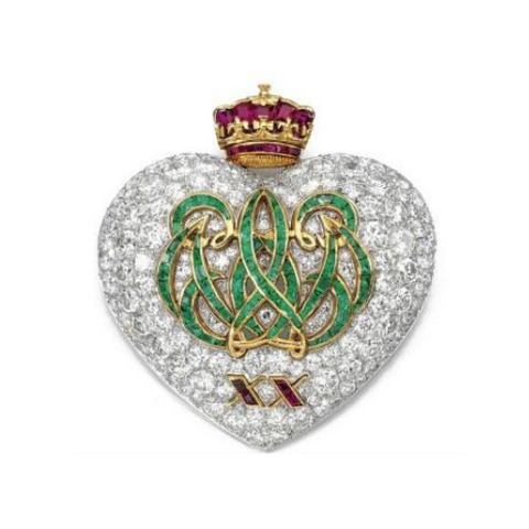 20th anniversary brooch by Cartier 1957, Image via Sotheby's  King Edward VIII and Wallis Simpson