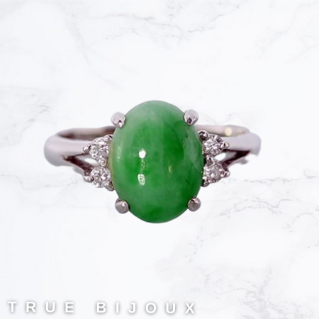 platinum jade and diamond vintage estate ring for sale Ottawa Canada jeweler engagement and more