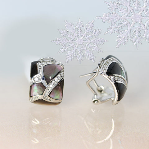 sterling silver mother of pearl earrings perfect gift this holiday ottawa