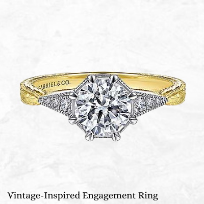 old european cut ring vintage style ring diamond rings for sale Ottawa