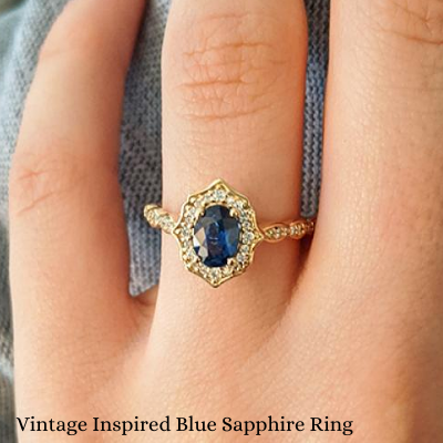 Vintage Inspired Sapphire Ring For Sale Ottawa Canada Amazing Priced Rings Toronto Montreal