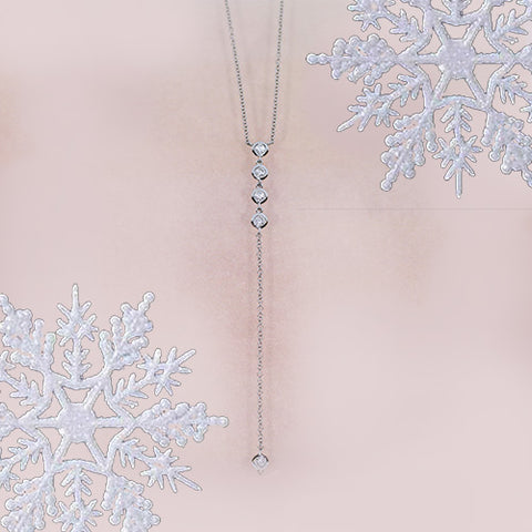 white gold and diamond lariat y necklace for sale ottawa gatineau