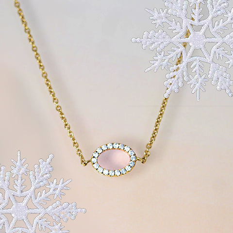 oval diamond minimal dainty yellow gold necklace gift guide ottawa