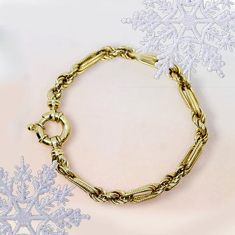 yellow gold vintage pre owned bracelet for sale