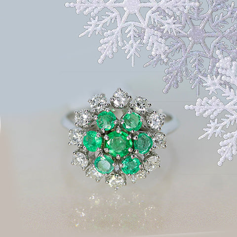 vintage emerald and diamond ring for sale Ottawa Canada
