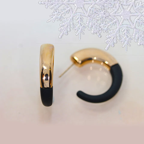 hoop earrings rose gold and rubber ottawa business christmas gift