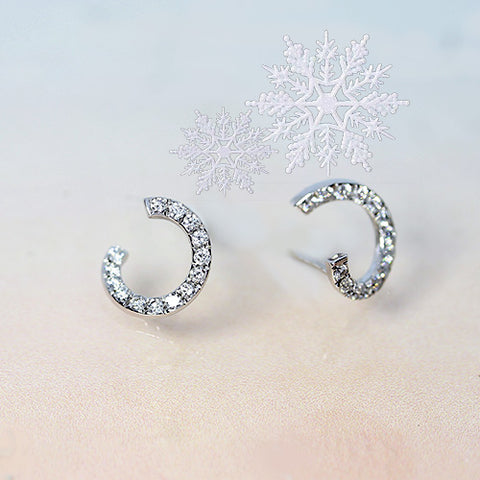 diamond spiral stud earrings in white gold for sale ottawa ontario canada