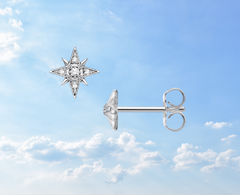 cz star single earring ear piercing