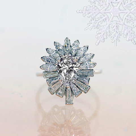 diamond cocktail ring baguette cut diamonds white gold jewelry for sale ottawa