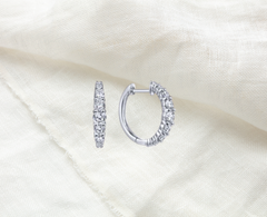 tapered diamond hoop earrings