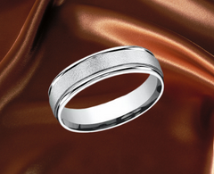 white gold groom wedding band wide ring