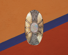 giant opal sheild ring for sale ottawa ontario, vintage jewelry