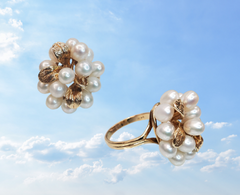 vintage pearl cluster ring upcycle jewelry ottawa