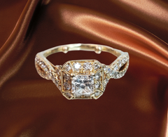 yellow gold gabriel ring diamond engagement ring for sale