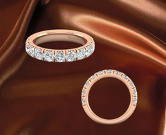 rose gold diamond eternity band for sale ottawa