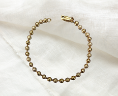 vintage preowned yellow gold beaded bracelet for sale ottawa