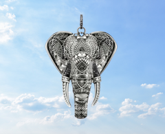elephant pendant genderless jewelry