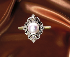 vintage pearl and enamel ring for sale ottawa ontario