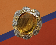 citrine brooch vintage for sale