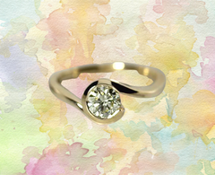 swirl bypass diamond ring alternative bridal ottawa wedding