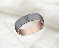 two tone rose gold and tantalum wide band unisex Ottawa Business