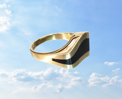 onyx mens ring inlay gold vintage ring ottawa