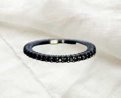 black spinel stack ring