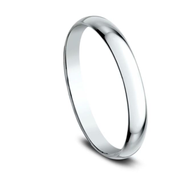 2mm 18K White Gold Classic Mens Ring