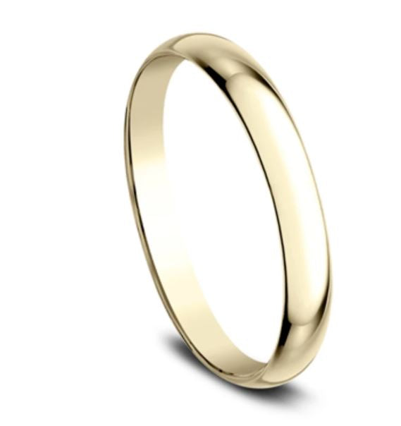 2mm 18 karat yellow gold classic ring with a high polish finish