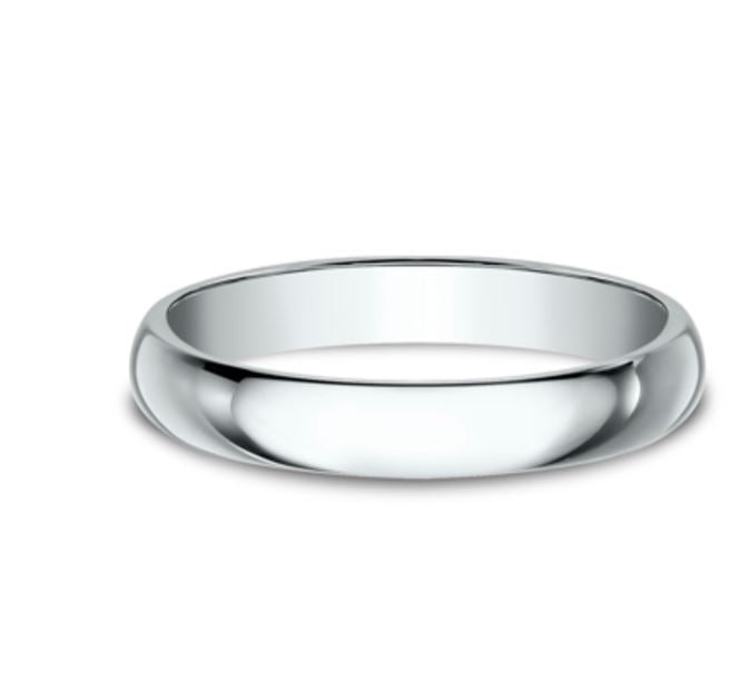 3mm Platinum Standard Comfort Fit  Ring