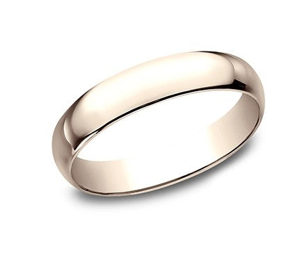 4mm 14k Rose Gold Mens Wedding Ring
