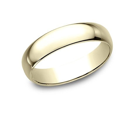 5mm 14k Yellow Gold Classic Mens Ring
