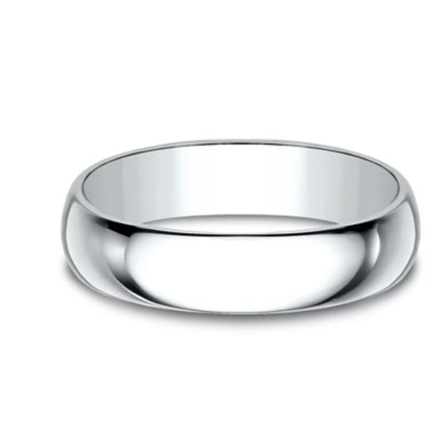 5mm Platinum Standard Comfort Fit  Ring