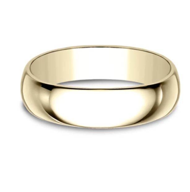 6mm 14k Yellow Gold Classic Mens Ring