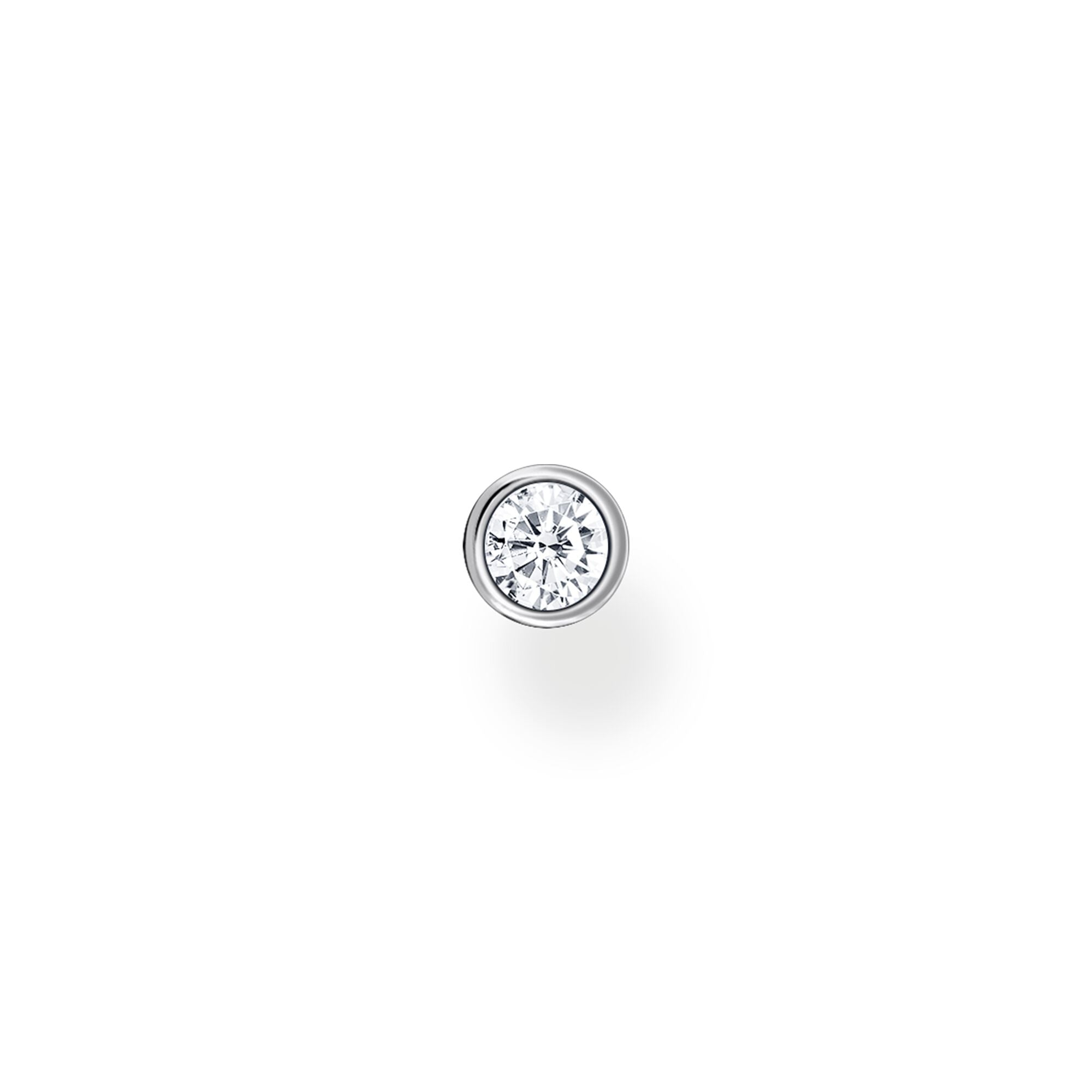 Thomas Sabo, Sterling Silver, Cubic Zirconia, Single Stone, Single Stud Earring, Push backing, Ottawa