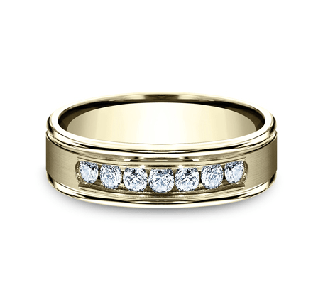 Benchmark 6mm Channel Set Diamond Men's Ring