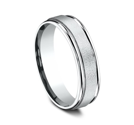 Benchmark 6mm Carved Wire Finish Centre Men's Ring