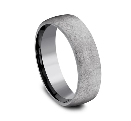 6.5mm grey tantalum ring with a swirl finish