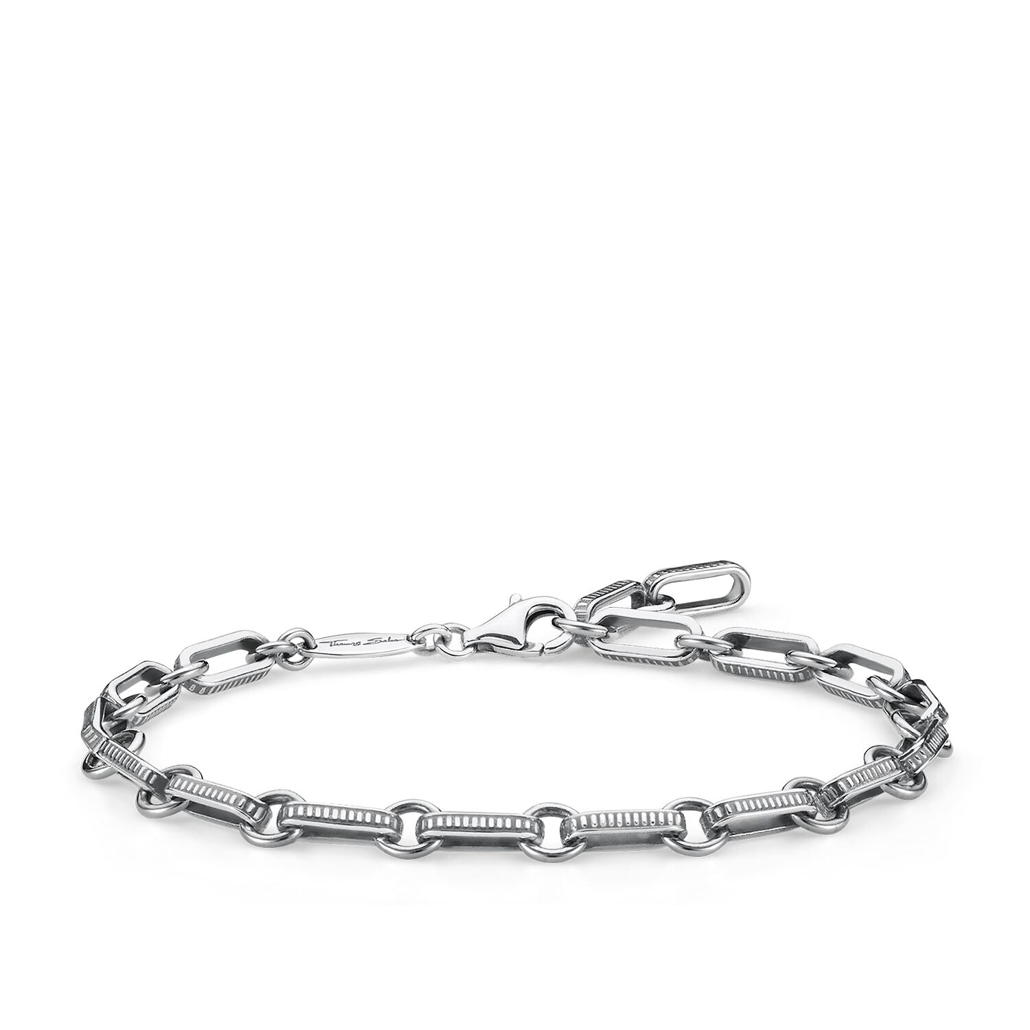 Thomas Sabo Blackened Sterling Silver Chain Link Bracelet