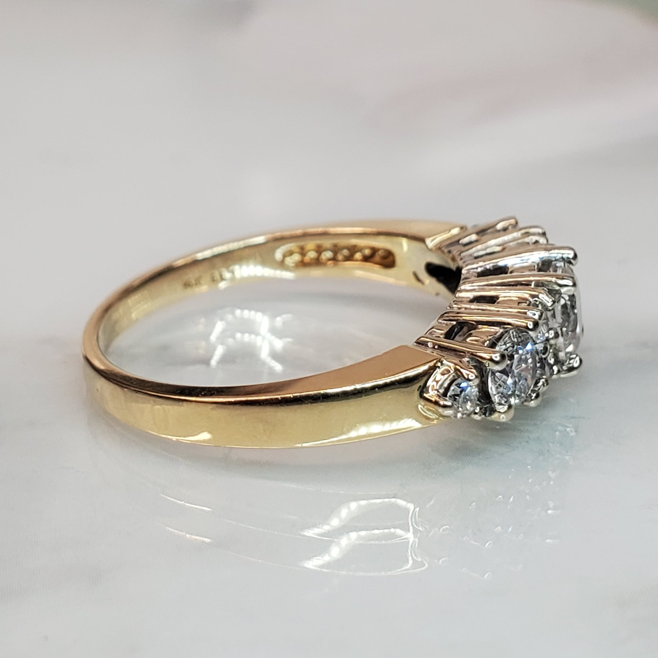 Estate 14k Yellow Gold 1.00twt Cluster Diamond Ring